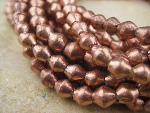 Copper Bicone Beads From the Villages of Ethiopia African