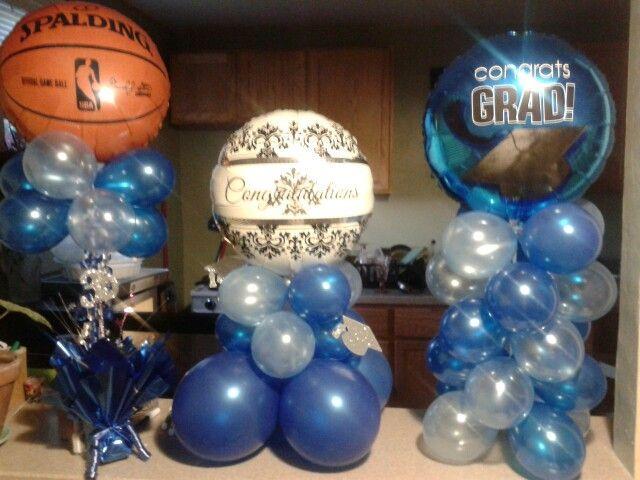 Graduation balloon decorations Super easy
