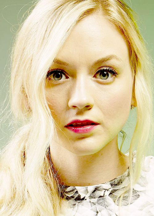 Emily Kinney - Walking Dead. I love her, even though I mostly yell at her character in disapproval through my TV.