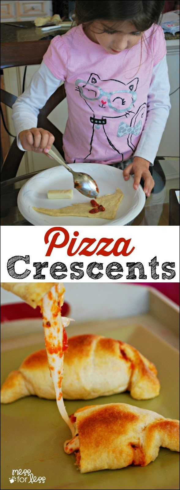 Crescent Roll Recipes: Pizza Crescents - these are the perfect after school snack for kids. So simple to make and SO delicious!