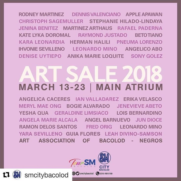 #Repost @smcitybacolod  Catch the best of Bacolod's art to fill your creative soul at the Art Sale 2018 at SM city Bacolod. #beautifuldestinations  #history #landscapes #architecture  #travel #bestvacations #itsmorefuninthephiippines #malaysia #bestvacations #ceres #wanderlust #adventure  #summer  #fifa #gardens  #indonesia #heritage #vacation #spanish #singaporeairlines #sunrise #airport #philippines #football #sunset #bacolod #airplane #travelphotography #negros #singapore #heritage #afc…