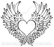 112 best angel wing s surrounding a heart memorial tattoo s for my rh pinterest com angel wings with heart angel wings with heart
