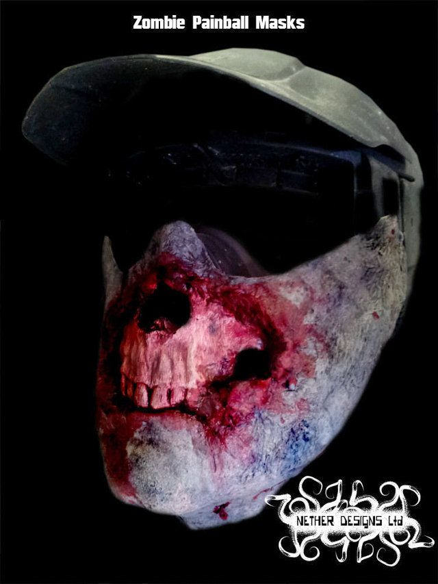 Zombie Paintball Mask. Because your idiots friends will shoot you in the face anyway.