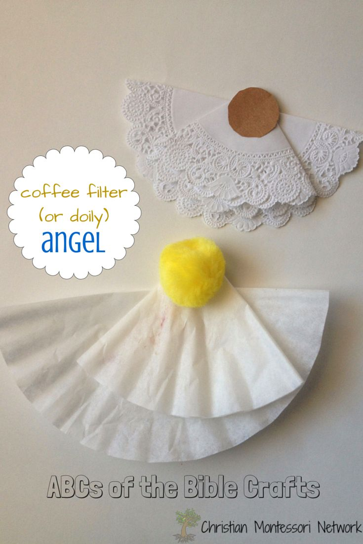 "An angel Bible school craft to go with the letter ""A"""
