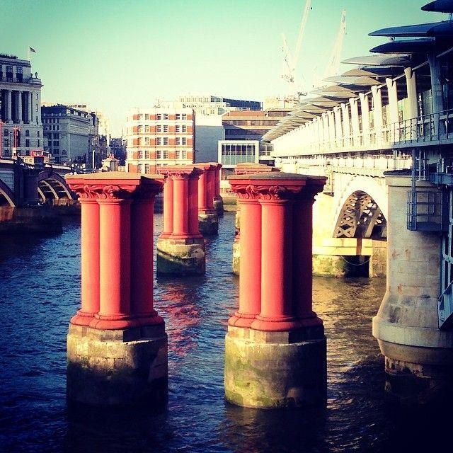 The old pillars from the 1864 #Blackfriars bridge will be added to the #Kooky #London #App! Check back!  https://itunes.apple.com/gb/app/kooky-london/id625209296?mt=8 #ig_London #igLondon #London_only #UK #England #GreatBritain #British #iPhone #quirky #odd #weird #photoftheday #photography #picoftheday #igerslondon #londonpop #lovelondon #timeoutlondon #londonslovinit #mylondon #Padgram