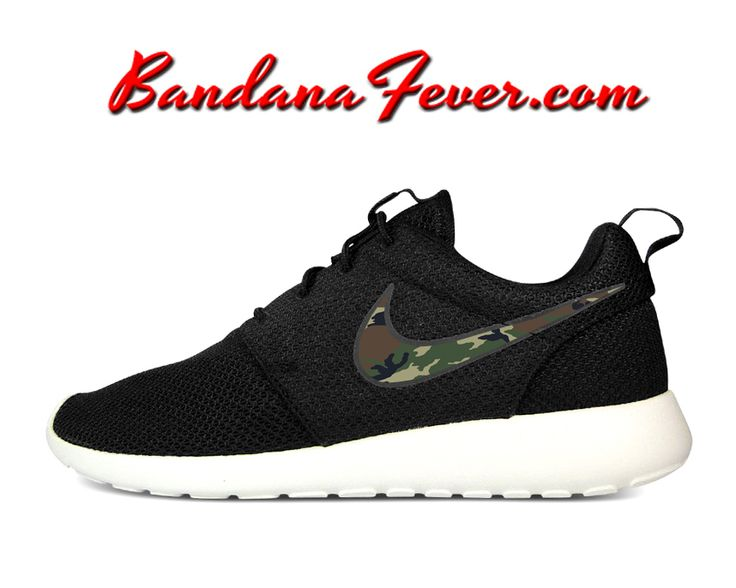 nike roshe run black black sail camo wedding
