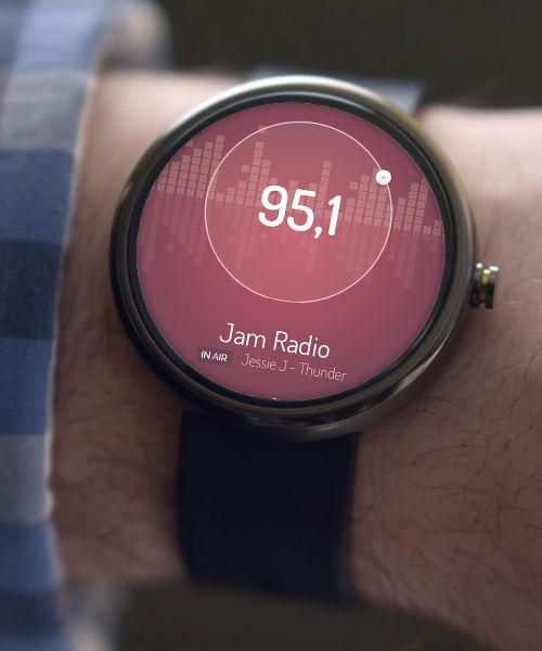 Android Wear FM Radio UI