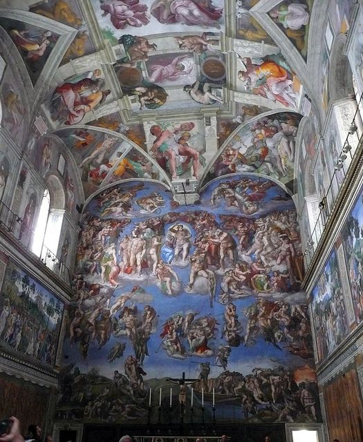 Sistine Chapel - Michaelangelo - I would LOVE to see this someday!