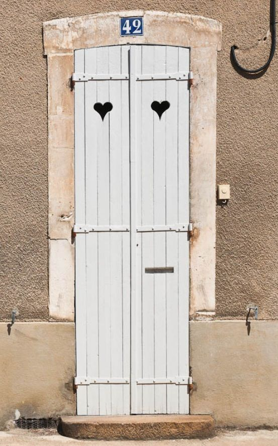 Door with Heart Detail