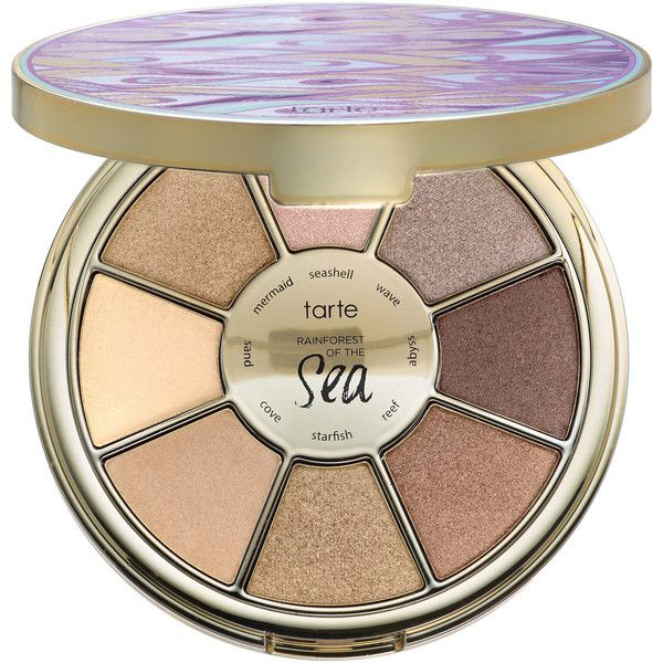 tarte Rainforest of the Sea Eyeshadow Palette (£23) ❤ liked on Polyvore featuring beauty products, makeup, eye makeup, eyeshadow, beauty, cosmetics, palette eyeshadow, tarte eyeshadow, creamy eyeshadow and tarte