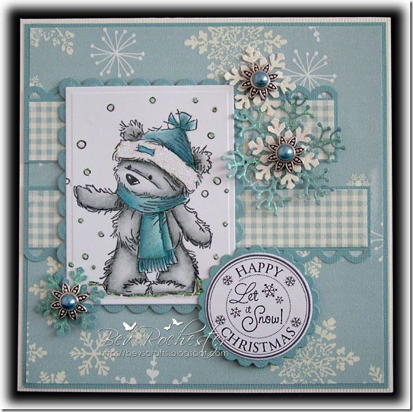 James Bear in the snow from Lili of the Valley (LOTV) stamps