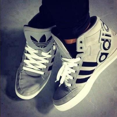 grey adidas high tops