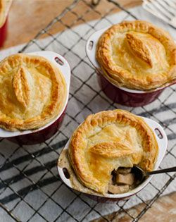 Chicken Mushroom Pot Pies - Wholesome goodness on a plate. Just like mom used to make # Comfort Food