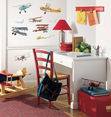 RoomMates, Adesivi da parete per camerette, motivo: Aerei d'epoca