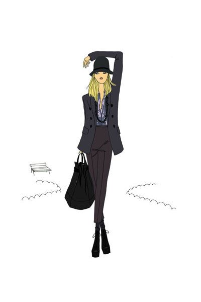 Jadore black dress cartoon