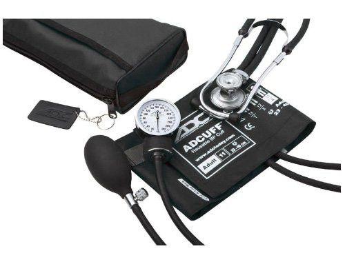 ADC Pro Combo II SR 768-641 Pocket Aneroid Sprague Stethoscope Kit Adult Black