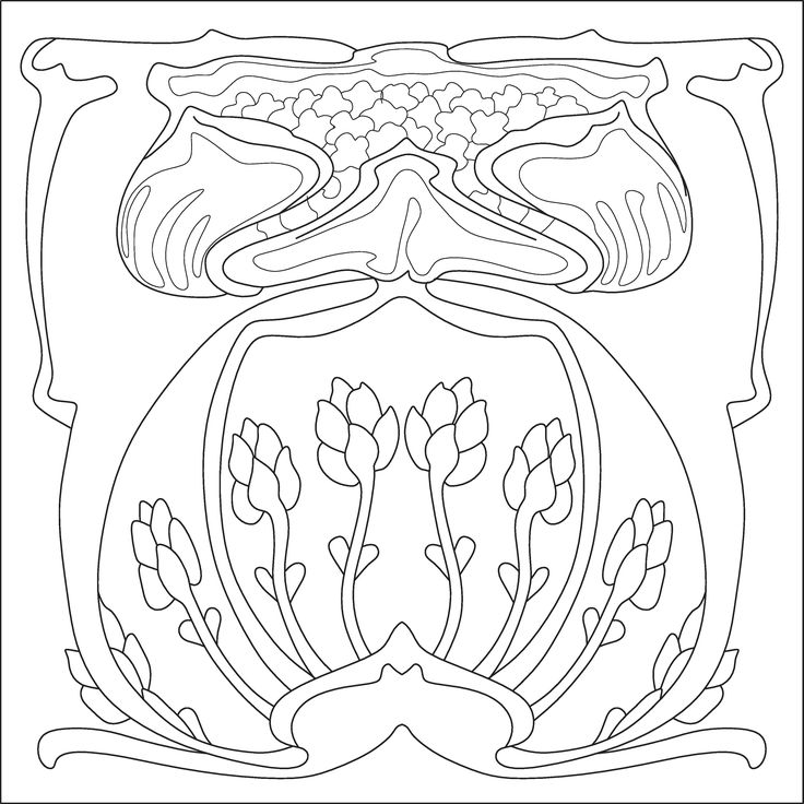 1000 images about art nouveau stencils floral patterns for Art nouveau shapes