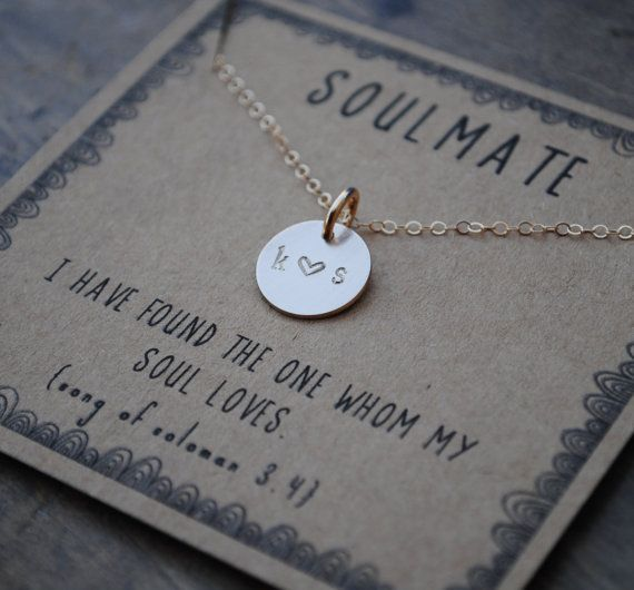 soulmate initial necklace . silver or goldfill by honeyverse