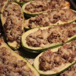 Stuffed Zucchini Boats with Meat - Allrecipes.com