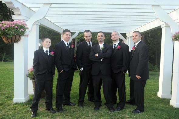 Topic: Handsome groom and groomsmen  