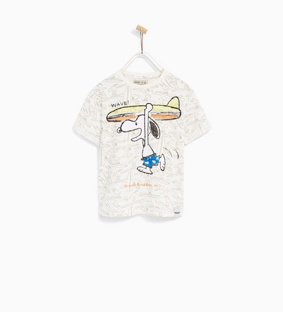 Image 1 of SNOOPY WAVE T-SHIRT from Zara