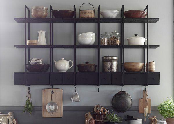 Falsterbo, l'étagère murale à l'esprit d'antan / Vintage wall shelf in the kitchen - Marie Claire Maison