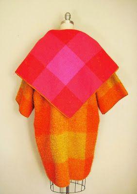 Pintucks: Bonnie Cashin: Mohair Blanket Coat, Up Close