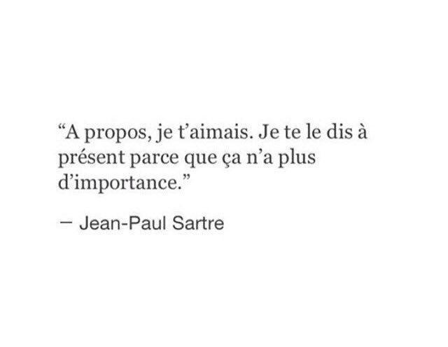 Non parce que je ne t'aime plus, mais parce que tu m'AS retiré ta présence !French poem