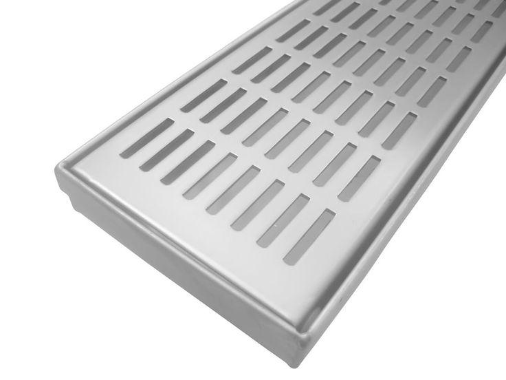 Bathroom shower 60s lines stainless steel linear floor