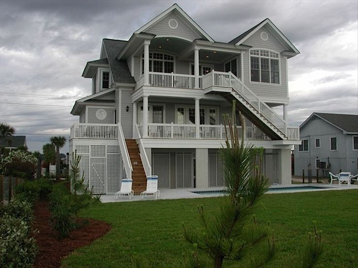 Myrtle Beach Beach Houses For Rent Part - 15: Garden City Beach House Rental: Spectacular Ocean Front Home With Pool U0026  Elevator 6 Br