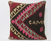 kilim pillow 24x24 big pillow case big kilim pillow big pillow cover extra large pillow large kelim rug big pillow cover black pillows 22387