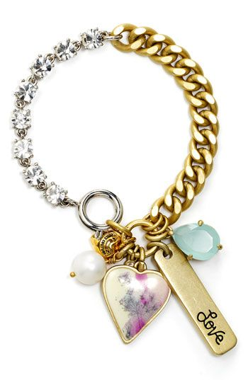 Juicy Couture 'Festival Chic' Iconic Charm Cluster Bracelet