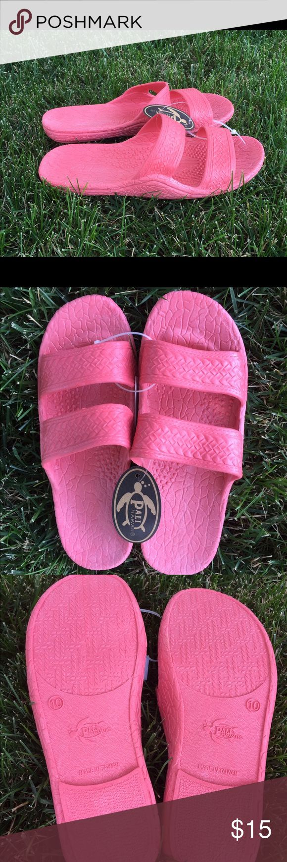 Authentic Original Pali Hawaii Sandals, Jandals BRAND NEW, with tags still on! Adorable pink Jandals! These are the most comfortable shoes you will ever wear! Waterproof and they float! We have lots to choose from. Sizes 6-10. Pali Hawaii Shoes Sandals