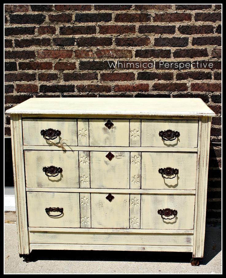 Antique Couches Pinterest: Painted Antique Dresser Cream
