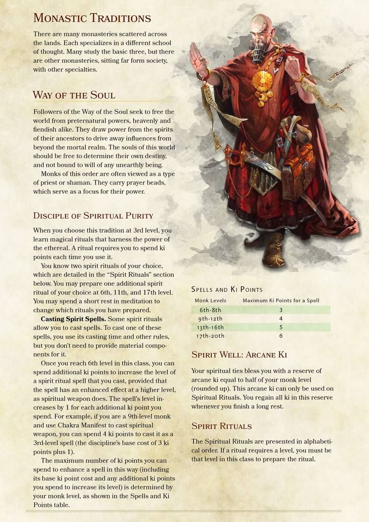 how to build monk 5e
