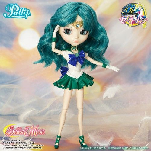 10th Collaboration from Pullip Sailor Moon Series; Outer Soldier Sailor Neptune is now arrived!! / Accessories: Tiara, Doll Stand / Set Contents: Tiara, Choker, Leotard, Skirt, Gloves, Shoes / Feeling: Be invited in the new era..... Sailor Neptune Gracefully active at the time of..... Feel Like So.