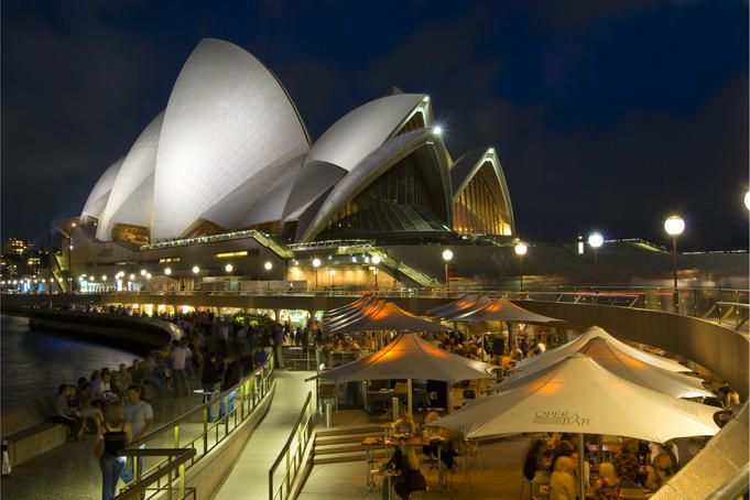 Opera Bar, Sydney Harbour. The Bridge to the left, The House to the right.