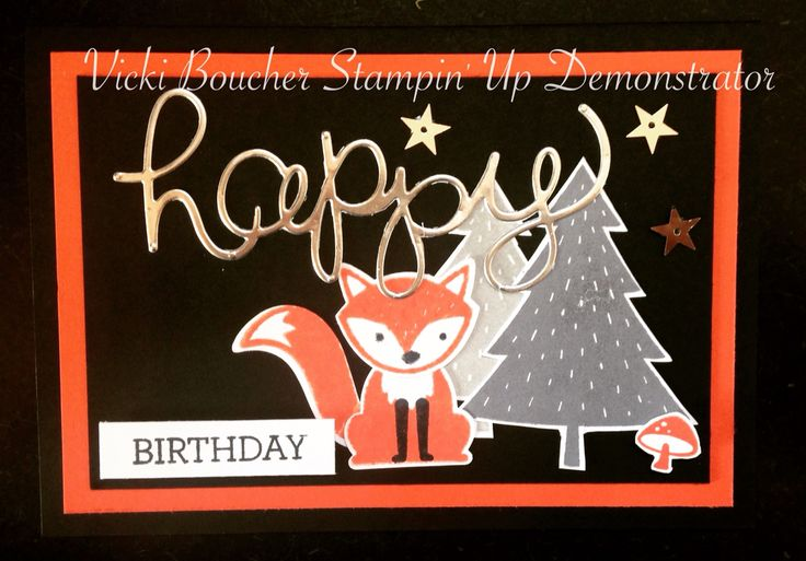 Stampin' Up! Foxy Friends stamp set and coordinating fox punch builder. 2016 to 2017 Annual Catalogue.