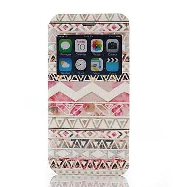 stammenpatroon ene venster clamshell pu leer full body case voor de iPhone 6 – EUR € 6.71