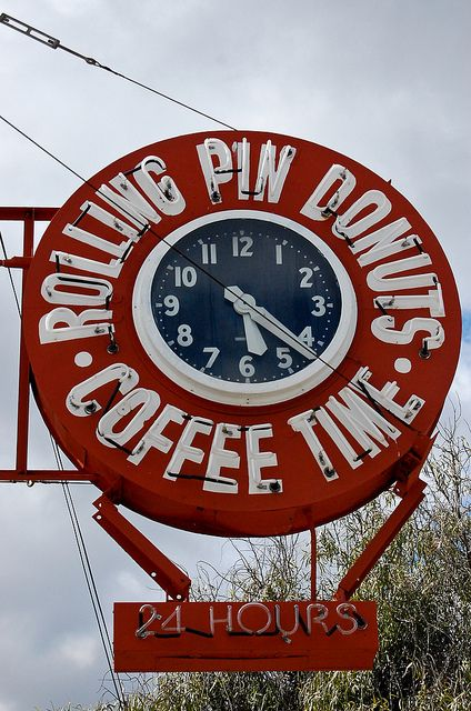 Rolling Pin Donuts Coffee Time - San Bruno, CA- I use to live near this place, how wonderful to come across this picture.