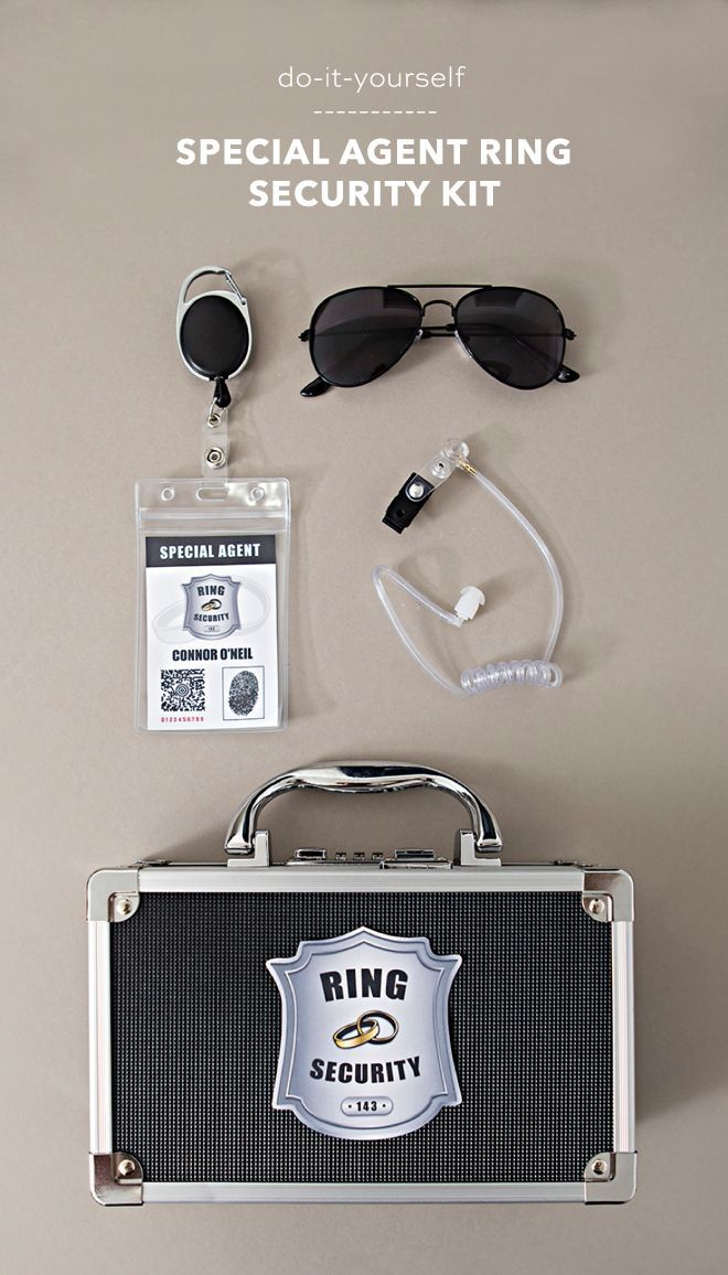 This Diy Special Agent Ring Security Kit Is The Cutest Ring Bearer Wedding Ring Security Wedding Proposals