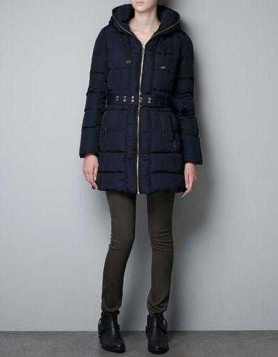 $159 PADDED ANORAK WITH HOOD - Coats - Woman - ZARA United States