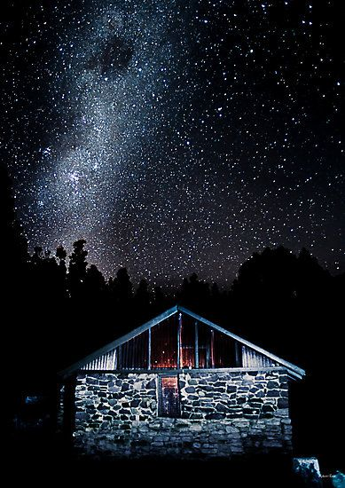 Stars above the Spring, Mt Wellington, Hobart, Tasmania, Australia