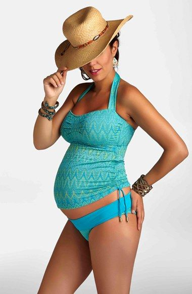 Pregnancy Style: Pez D'Or Jacquard Maternity Two-Piece Tankini Swimsuit | Nordstrom