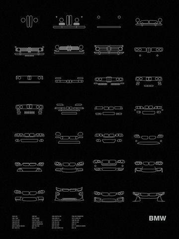 Models shown: 1936 328 / 1952 501 / 1955 ISETTA 250 / 1955 ISETTA 250 / 1956 507 ROADSTER / 1962 1500 / 1965 3200CS / 1968 2002 tii / 1973 3.0CSL E9 / 1975 316 E21 / 1978 M1 E26 / 1979 M535i E12 / 1