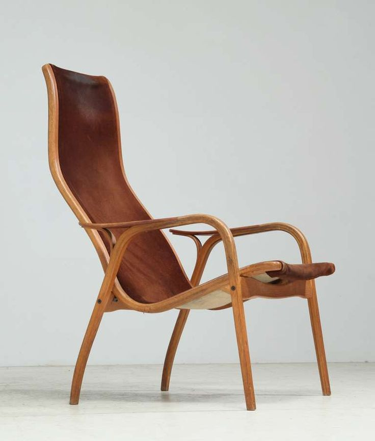 Yngve Ekstrom Lamino Chair, Stamped 1965 | From a unique collection of antique and modern lounge chairs at https://www.1stdibs.com/furniture/seating/lounge-chairs/