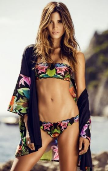 Costume da bagno Bikini Lovers 2016 con reggiseno a fascia stampa tropicale modello Ardisia