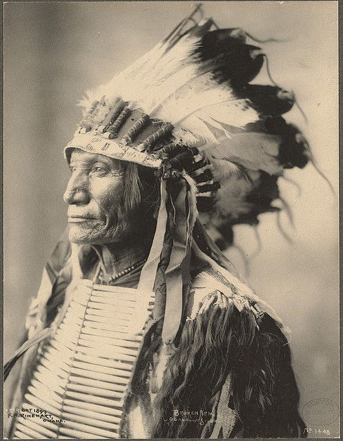Broken Arm, Ogalalla Sioux photographed by F.A. Rinehart. (c.1898). Great costume detail.