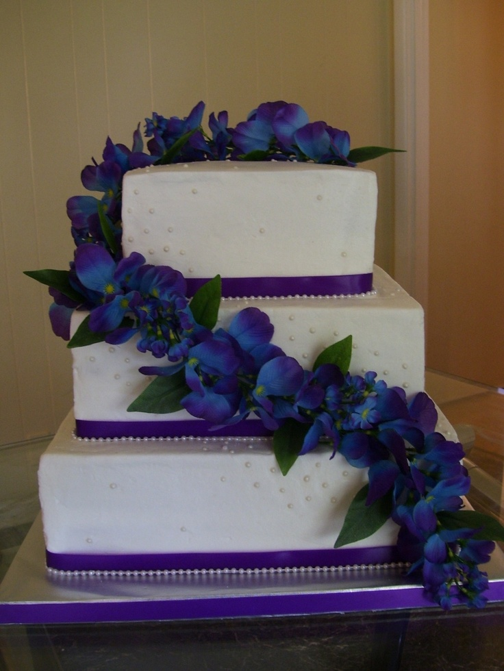Wedding Cakes With Blue And Purple Cake Ideas