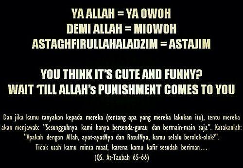 Don't Do That!!!! Jika Kamu Benar-Benar Islam